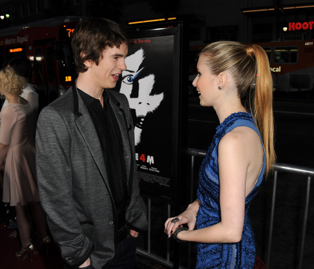 Freddie highmore and emma roberts photos photos premiere for Freddie highmore movies and tv shows
