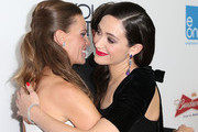 Actress/Producer Hilary Swank (L) and actress Emmy Rossum attend the Premiere of eOne Films' 'You're Not You' at the Landmark Theatre on October 8, 2014 in Los Angeles, California.