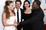 (L-R) Actress/Producer Hilary Swank, actor Jason Ritter, actress Emmy Rossum and actor Ernie Hudson attend the Premiere of eOne Films' 'You're Not You' at the Landmark Theatre on October 8, 2014 in Los Angeles, California.