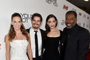 (L-R) Actress/producer Hilary Swank, actors Jason Ritter, Emmy Rossum and Ernie Hudson arrive at the premiere of eOne Films' 'You're Not You' at the Vanguard Theatre on October 8, 2014 in Los Angeles, California.