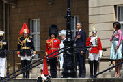 (L-R) Queen Elizabeth II, US President Barack Obama, First Lady Michelle Obama and Prince Philip, Duke of Edinburgh listen to the US National Anthem at Buckingham Palace on May 24, 2011 in London, England. The 44th President of the United States, Barack Obama, and his wife Michelle are in the UK for a two day State Visit at the invitation of HM Queen Elizabeth II. During the trip they will attend a state banquet at Buckingham Palace and the President will address both houses of parliament at Westminster Hall.