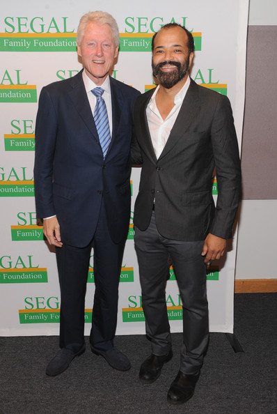 Photo of Jeffrey Wright & his friend politician  Bill Clinton - work