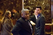 Former U.S. Representative Allen West arrives to meet with President-elect Donald Trump at Trump Tower on December 5, 2016 in New York City. Trump has been holding daily meetings at the luxury high rise that bears his name since his election in November.