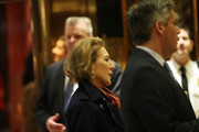 Carly Fiorina walks into Trump Tower  on December 12, 2016 in New York City. President-elect Donald Trump continues to hold meetings with potential members of his cabinet at his office.