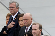 (AFP OUT) Former U.S. President George W. Bush (R) and his wife Laura watch as a U.S. military honor guard team carries the flag draped casket of former U.S. President George H. W. Bush from the U.S. Capitol December 5, 2018 in Washington, DC. A funeral service will be held today for former U.S. President Bush at the Washington National Cathedral. President Bush will be buried at his final resting place at the George H.W. Bush Presidential Library at Texas A&M University in College Station, Texas. A WWII combat veteran, Bush served as a member of Congress from Texas, ambassador to the United Nations, director of the CIA, vice president and 41st president of the United States.