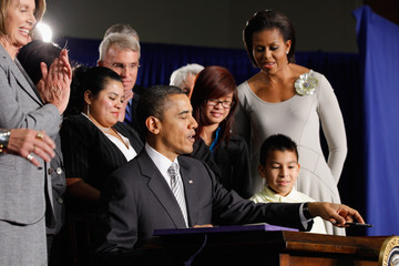 Tammy Nguyen President And Mrs. Obama Speak At Signing Of Healthy, Hunger-Free Kids Act