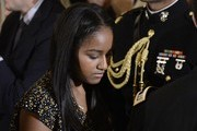 (AFP OUT) Sasha Obama leaves the State Dining room of the White House , January 12, 2017 in Washington, DC.