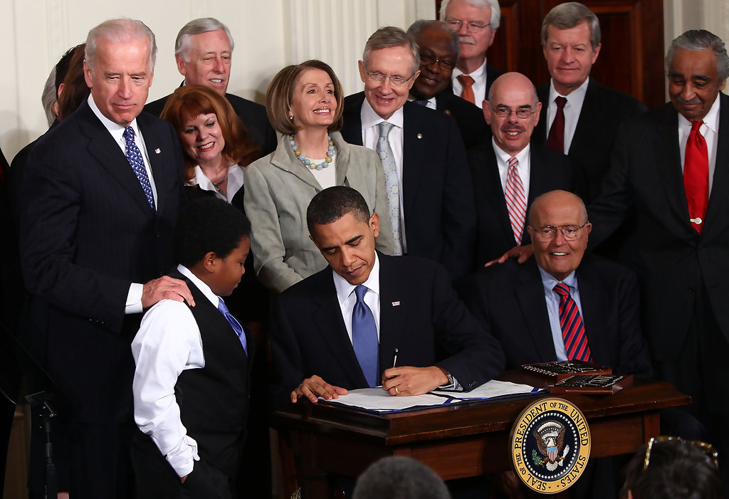Barack Obama in President Obama Signs Health Care Reform ...