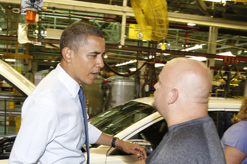 Jim Holland President Obama Visits Ford Auto Plant In Chicago
