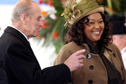 Prince Philip, Duke of Edinburgh smiles as Jacob Zuma's wife Thobeka Madiba Zuma looks on during a ceremonial welcome on Horseguards Parade on March 3, 2010 in London, England. The South African Leader is on a three day State visit to Britain.