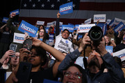 Supporters cheer for Democratic presidential candidate Sen. Bernie Sanders (I-VT) as he addresses supporters during a campaign rally at the Roy Wilkins Auditorium March 02, 2020 in St. Paul, Minnesota. h. Sanders is campaigning in Utah and Minnesota the day before Super Tuesday, when 1,357 Democratic delegates in 14 states across the country will be up for grabs.
