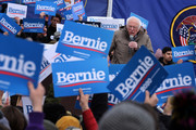 Democratic presidential candidate Sen. Bernie Sanders (I-VT) addresses supporters during a campaign rally in the Central Mall of the Utah State Fair Park March 02, 2020 in Salt Lake City, Utah. Sanders is campaigning in Utah and Minnesota the day before Super Tuesday, when 1,357 Democratic delegates in 14 states across the country will be up for grabs.
