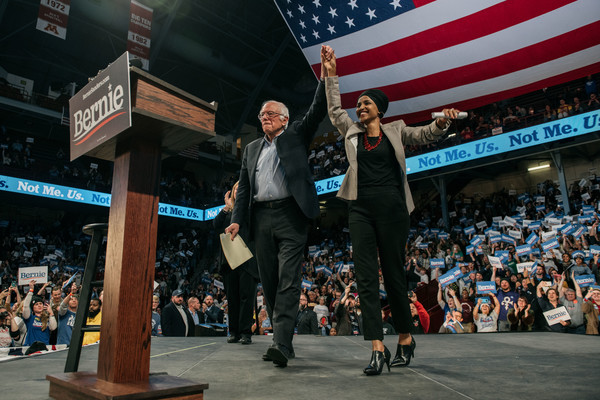 Presidential Candidate Sen. Bernie Sanders And Rep. Ilhan Omar Hold Campaign Rally At University Of Minnesota