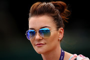 Former player, Agnieszka Radwanska of Poland looks on during a practice session ahead of The Championships - Wimbledon 2019 at All England Lawn Tennis and Croquet Club on June 30, 2019 in London, England.