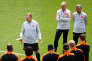 A general view as Netherlands Head coach / Manager, Ronald Koeman takes his training session prior to the UEFA Nations League Final between Portugal and the Netherlands at Sporting Clube de Braga Stadium training ground on June 08, 2019 in Braga, Portugal.