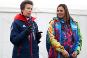 Princess Anne (L) of Great Britain and pole vaulter and Mayor of the Olympic Village Yelena Isinbayeva of Russia meet ahead of the Sochi 2014 Winter Olympics at the Olympic Park on February 6, 2014 in Sochi, Russia.