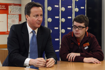 James Dowling Prime Minister David Cameron Visits East London To Make A Speech On Welfare