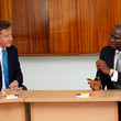 David Cameron Babatunde Fashola Photos
