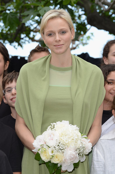 Princess Charlene of Monaco visits the Les Devens Leisure centre at La Turbie on May 9, 2012 in Monaco, Monaco.