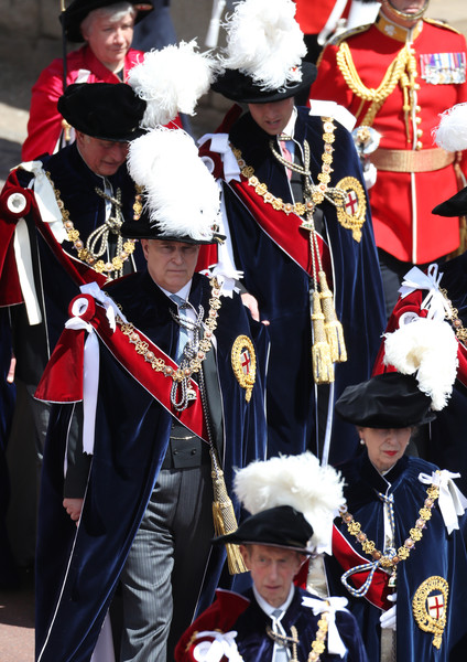 Order Of The Garter Service [marching band,uniform,event,tradition,musician,order of the garter service,front-l,duke of kent,anne,andrew,prince edward,prince william,charles,george vi,duke]