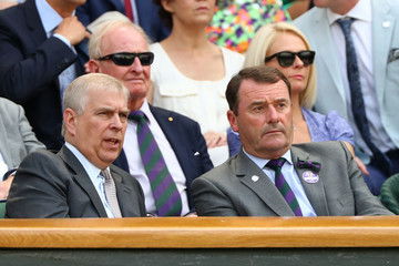 Prince Andrew Day Eleven: The Championships - Wimbledon 2018