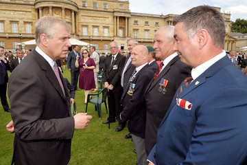 Prince Andrew Queen Elizabeth II Hosts a Garden Party