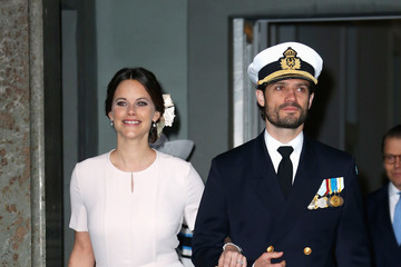 Prince Carl Philip Te Deum Thanksgiving Service Arrivals - King Carl Gustaf of Sweden Celebrates His 70th Birthday