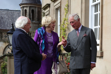 Prince Charles Prince Of Wales Welcomes President Of Ireland At Dumfries House
