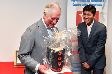 Prince Charles The Prince Of Wales Visits Warwickshire And The West Midlands