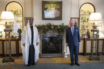 Prince Charles British PM Greets Sheikh Mohammed bin Zayed Al-Nahyan On Downing Street