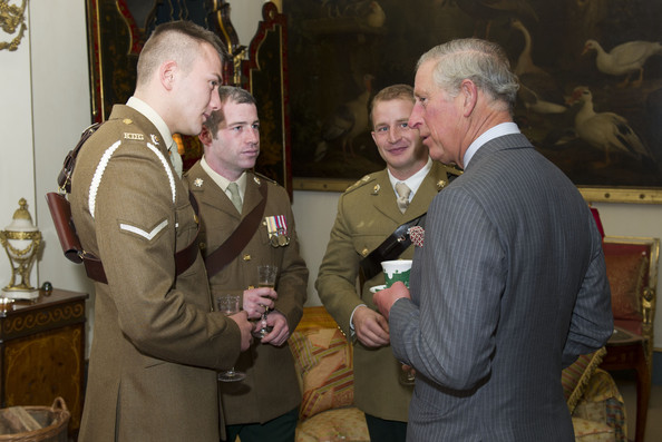 Prince Charles Meets Members Of The 'In The Footsteps of Legends' South Pole Expedition At Clarence House