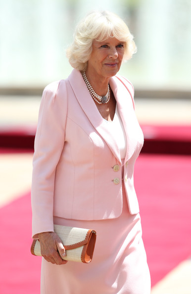 Camilla, Duchess of Cornwall arrives at the Presidential Palace for an Official Welcome on October 29, 2014 in Bogota, Colombia. The Royal Couple are on a four day visit to Colombia as part of a Royal tour to Colombia and Mexico. After fifty years of armed conflict in Colombia the theme for the visit is Peace and Reconciliation.
