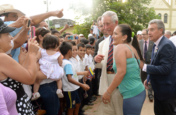 Prince Charles, Prince of Wales meets well wishers after he and the President of Colombia Juan Manuel Santos visited La Macarena Church on October 30, 2014 in La Macarena, Colombia. The Royal Couple are on a four day visit to Colombia as part of a Royal tour to Colombia and Mexico. After fifty years of armed conflict in Colombia the theme for the visit is Peace and Reconciliation.
