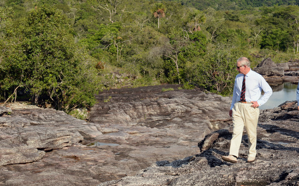 Prince Charles, Prince of Wales attends a walking tour of Cano Cristales on October 30, 2014 in La Macarena, Colombia. The Royal Couple are on a four day visit to Colombia as part of a Royal tour to Colombia and Mexico. After fifty years of armed conflict in Colombia the theme for the visit is Peace and Reconciliation.
