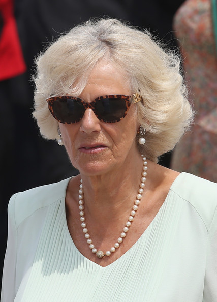 Camilla, Duchess of Cornwall visits the CoastGuard on October 31, 2014 in Cartagena, Colombia. The Royal Couple are on a four day visit to Colombia as part of a Royal tour to Colombia and Mexico. After fifty years of armed conflict in Colombia the theme for the visit is Peace and Reconciliation.