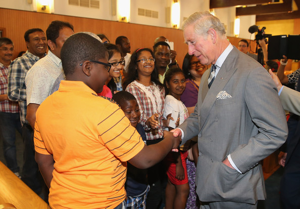 Prince Charles, Prince of Wales meets members of the public inside the Church of the Epiphany on February 21, 2014 in Doha, Qatar. The Prince is on a three day solo visit to Qatar following a short visit to Saudi Arabia.