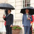 Prince Charles The Prince Of Wales And The Duchess of Cornwall Receive President Macron To Commemorate The Appeal of The 18th June Speech By Charles De Gaulle