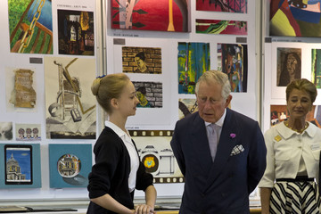 Prince Charles The Prince of Wales Visits the Royal Ballet School