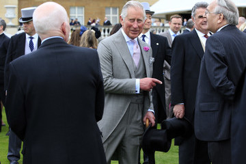Prince Charles Queen Elizabeth II Hosts Garden Party at Buckingham Palace