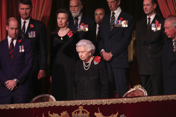 Prince Edward Prince William The Royal Family Attend The Festival Of Remembrance