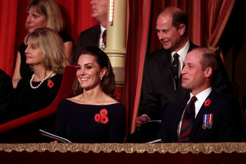 Prince Edward Prince William The Queen And Members Of The Royal Family Attend The Royal British Legion Festival Of Remembrance