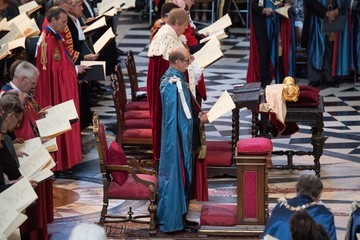 Prince Edward HM Queen Attends A Service Marking The Most Distinguished Order Of St George