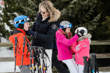 Prince Emmanuel of Belgium King Philippe and Queen Mathilde of Belgium on Family Skiing Holiday