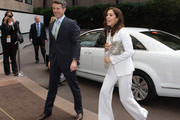 Prince Frederik and Princess Mary of Denmark arrive at the Hotel Sofitel Melbourne for the official opening of the 'State of Green - Join the Future. Think Denmark', on November 23, 2011 in Melbourne, Australia. Princess Mary and Prince Frederik are on their first official visit to Australia since 2008. The Royal visit begins in Sydney, before heading to Melbourne, Canberra and Broken Hill.
