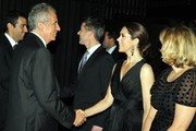 Prince Frederik of Denmark (3rd L) and Princess Mary of Denmark (2nd R) greet guests as they attend the Danish Ambassadors dinner at Doltone House, Pyrmont on November 21, 2011 in Sydney, Australia. Princess Mary and Prince Frederik are on their first official visit to Australia since 2008. The Royal visit begins in Sydney, before heading to Melbourne, Canberra and Broken Hill.