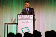 """Prince Frederik of Denmark speaks at the opening of """"State of Green - Join the Future - Think Denmark"""" at the Hotel Sofitel Wentworth on November 21, 2011 in Sydney, Australia. Princess Mary and Prince Frederik are on their first official visit to Australia since 2008. The Royal visit begins in Sydney, before heading to Melbourne, Canberra and Broken Hill. (Photo by Greg Wood-Pool/Getty Images)....Denmark's Crown Prince Frederik (C) speaks at the opening of ?State of Green ? Join the Future ? Think Denmark?, at the Hotel Sofitel Wentworth in Sydney on November 21, 2011. Crown Prince Frederik and Crown Princess Mary are leading a business delegation investigating green energy, sustainable living and food technologies in a bid to enhance trade and investment ties. AFP PHOTO / POOL / Greg WOOD"""