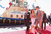 Princess Mary of Denmark and Prince Frederik of Denmark leave after attending the naming ceremony for the tugboat 'Svitzer Marysville' on November 24, 2011 in Melbourne, Australia. Princess Mary and Prince Frederik are on their first official visit to Australia since 2008. The Royal visit begins in Sydney, before heading to Melbourne, Canberra and Broken Hill.