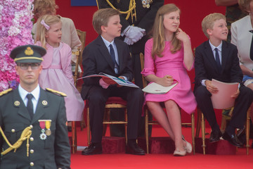 Prince Gabriel of Belgium Royals Celebrate the National Day of Belgium 2015