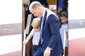 Prince George The Duke and Duchess of Cambridge Visit Germany - Day 1