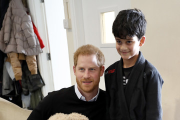 Prince Harry The Duke Of Sussex Visit The 'Fit And Fed' Half-Term Initiative